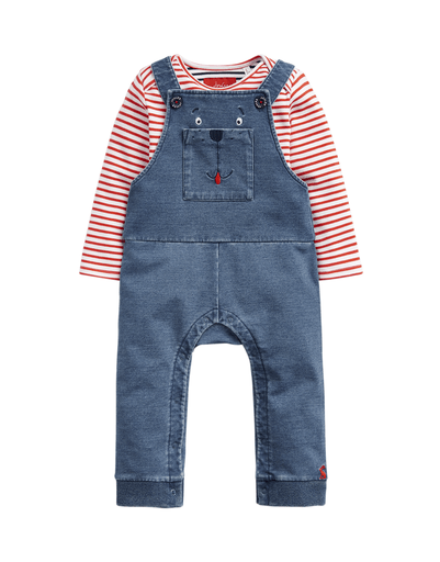 Joules Combinaisons 2Y / Bleu Ensemble deux piéces Denim bear dungaree