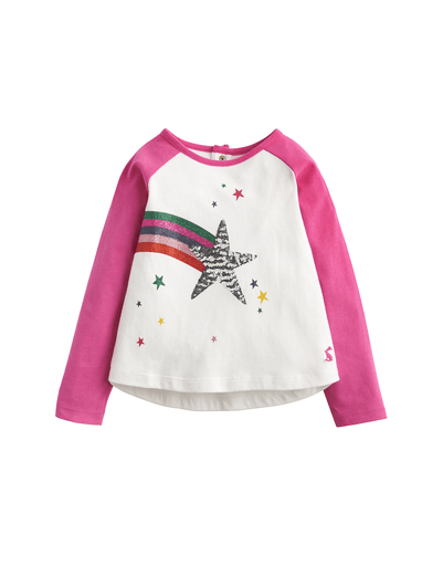 Joules Hauts 3Y / Beige Chandail étoile à paillettes Star sequined top