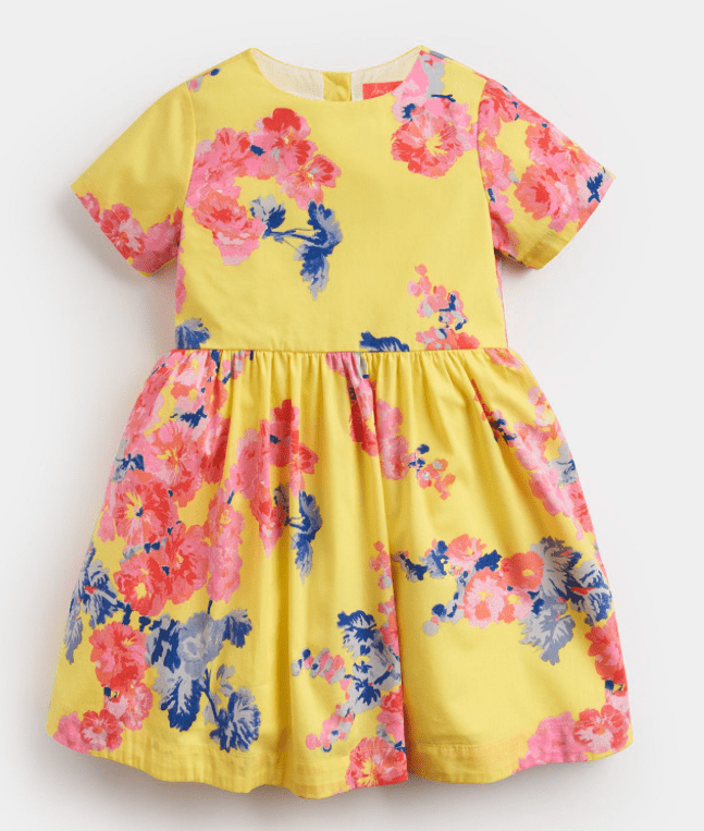 Joules Robes 12M Robe fleurie jaune Yellow floral dress