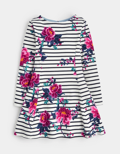 Joules Robes 12Y / Blanc Robe imprimée florale Floral printed dress