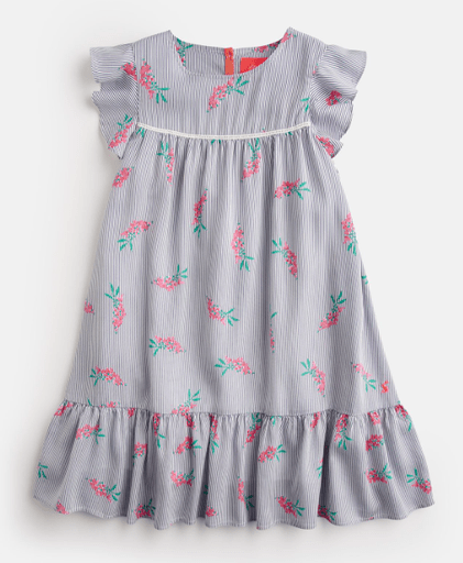 Joules Robes 12Y / Bleu Robe à manches volantes Frill sleeve dress