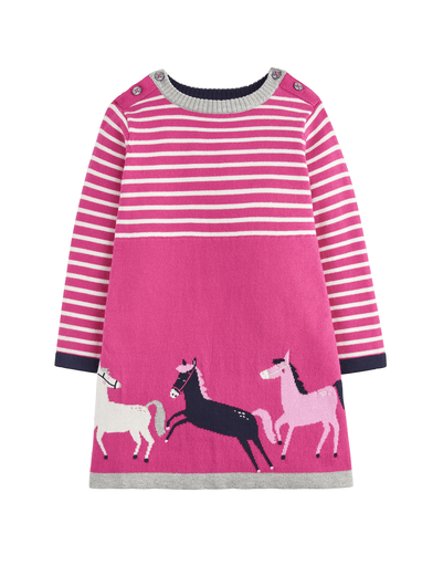 Joules Robes 3Y / Rose Robe rose en tricot Pink knitted dress