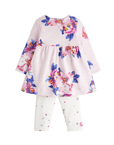 Joules Robes 6M / Rose Robe rose fleurie Granny floral dress
