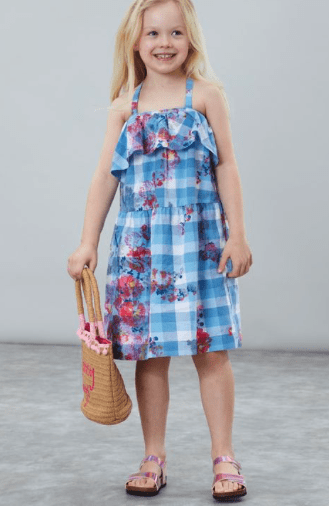 Joules Robes 6Y Robe à carreaux Checkered dress