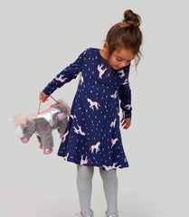 Joules Robes Bleu / 3Y Robe licornes Unicorn dress