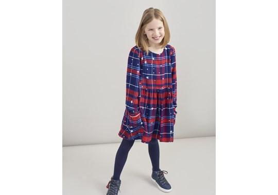 Joules Robes Robe rouge à carreaux Red check dress