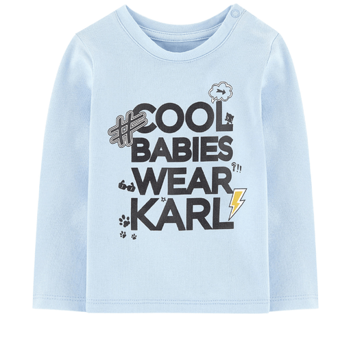 Karl Lagerfeld Chandails 12M / Bleu T-shirt bleu ciel Powder blue t-shirt