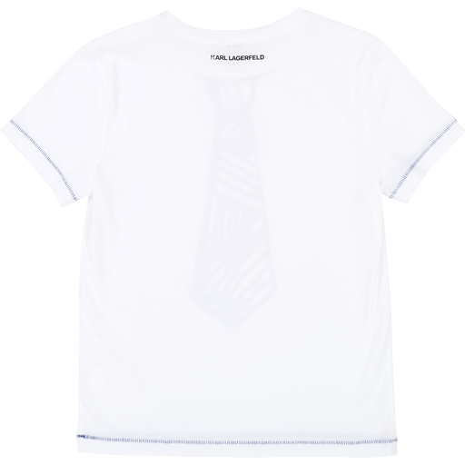 Karl Lagerfeld Chandails 12Y / Blanc T-shirt blanc avec cravate White t-shirt with tie