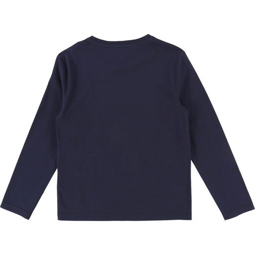 Karl Lagerfeld Chandails 16Y / Bleu T-shirt bleu cargo Blue cargo t-shirt with white print. Long sleeves, round collar