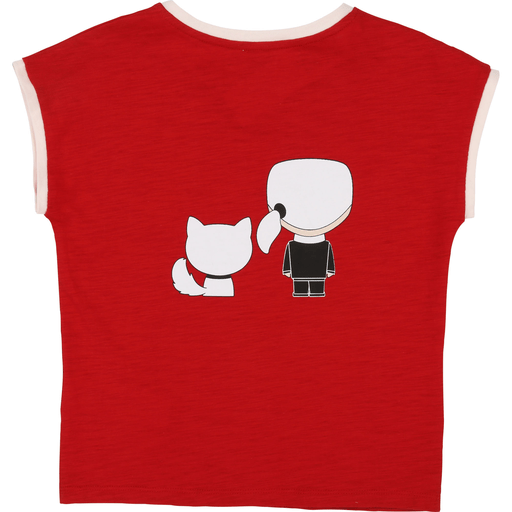 Karl Lagerfeld Chandails 16Y / Rouge T-Shirt rouge et rose avec imprimé   Imprinted red and pink T-Shirt