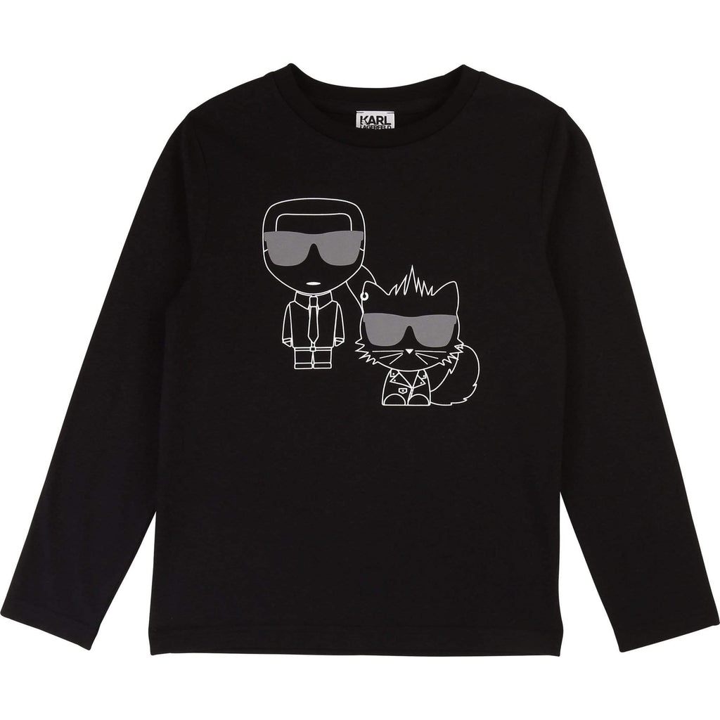 Karl Lagerfeld Chandails 6Y / Noir Tee shirt manches longues