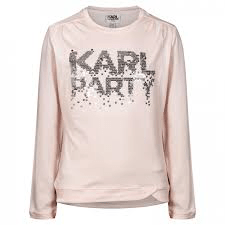 Karl Lagerfeld Chandails 6Y / Rose T-shirt rose pâle  Pink t-shirt