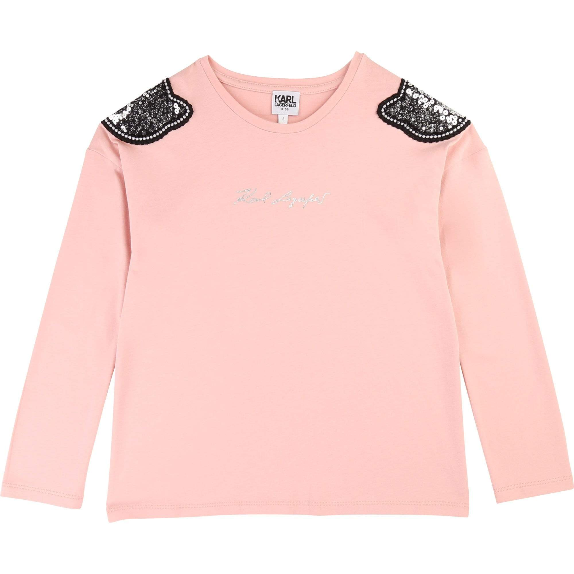 Karl Lagerfeld Chandails 6Y / Rose Tee shirt manches longues