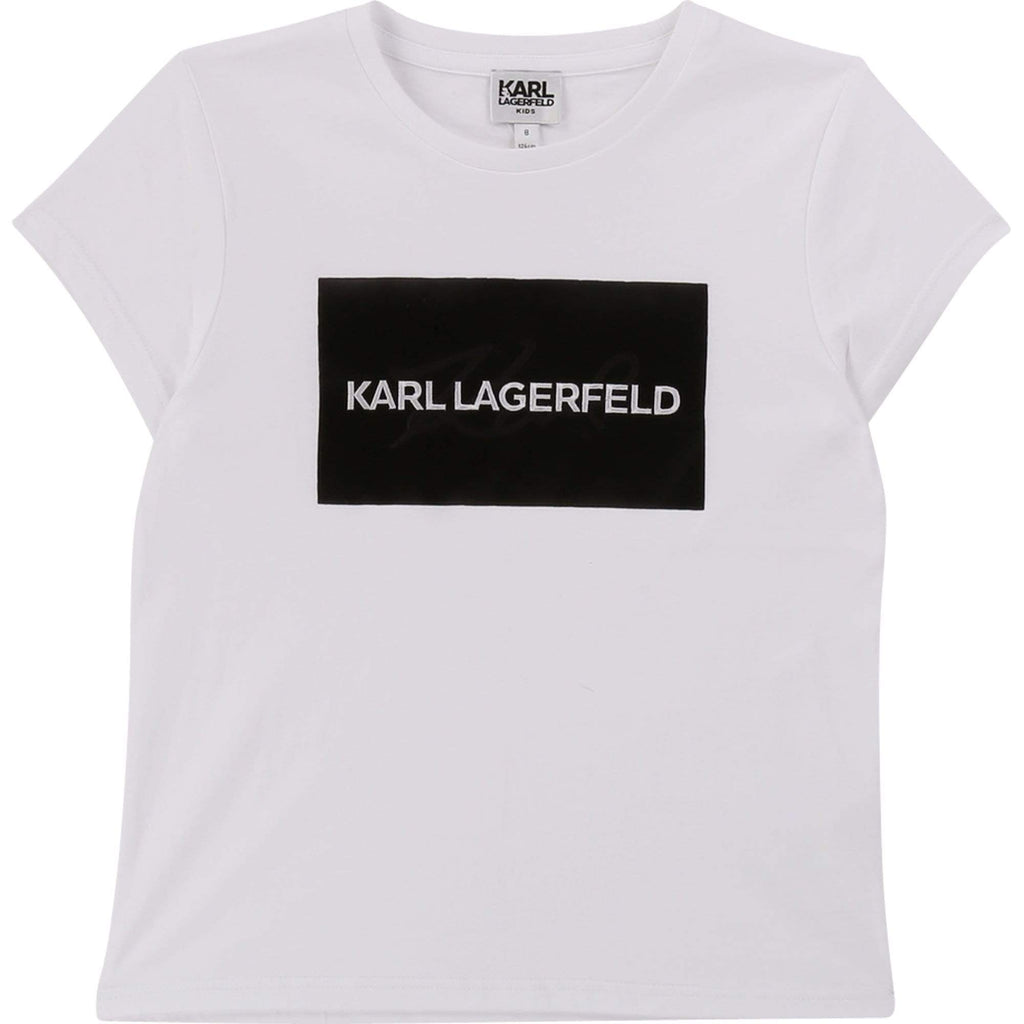 Karl Lagerfeld Chandails Chandail avec logo rectangle Rectangle logo T-shirt
