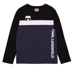 Karl Lagerfeld Chandails Chandail bleu chiné Heather blue t-shirt
