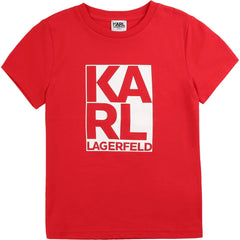 Karl Lagerfeld Chandails Chandail rouge écarlate Bright red T-shirt