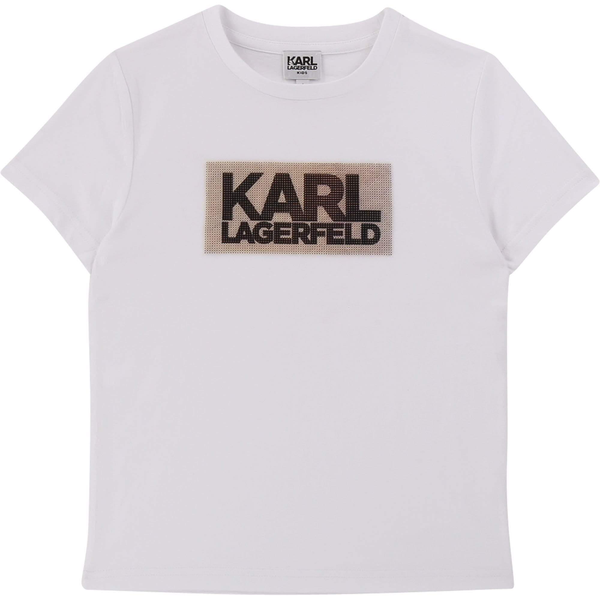 Karl Lagerfeld Chandails T-shirt à imprimé métallique Metallic printed T-shirt
