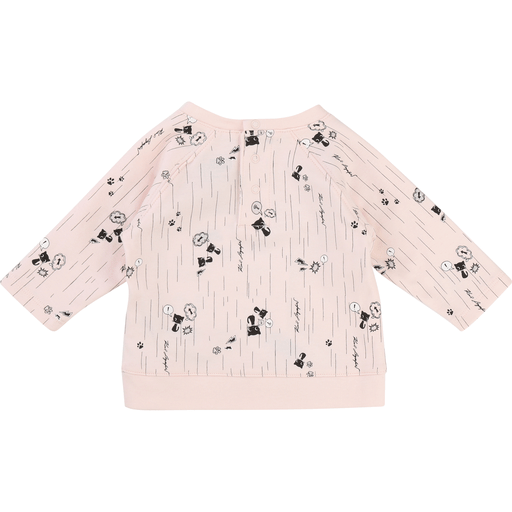 Karl Lagerfeld Hauts 12M / Rose Chandail rose pâle Pink sweat
