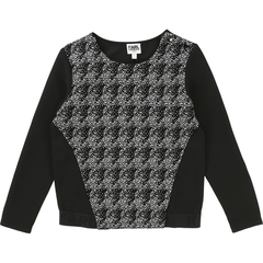 Karl Lagerfeld Hauts 16Y / Noir Sweat noir et blanc Black and white sweat