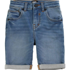 Karl Lagerfeld Shorts Bermuda en denim bleu pâle Light blue denim bermudas