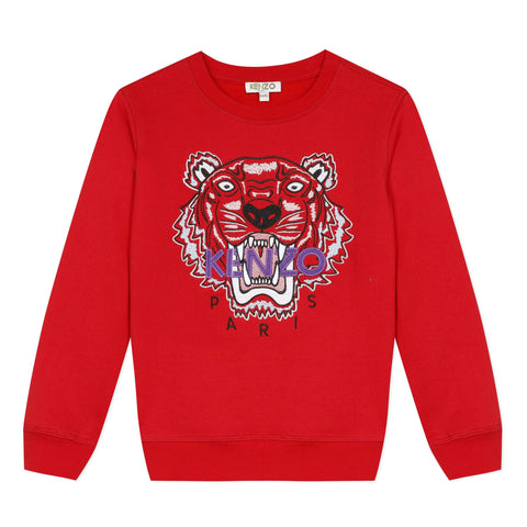 Kenzo Pulls Pull rouge Red sweat shirt