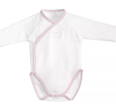 Laranjinha Pyjamas 9M / Rose Body blanc et rose White and pink body