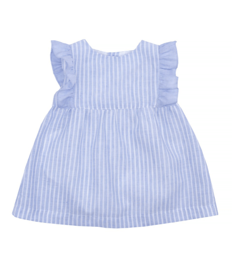 Laranjinha Robes 3Y / Bleu Robe à rayures Striped dress