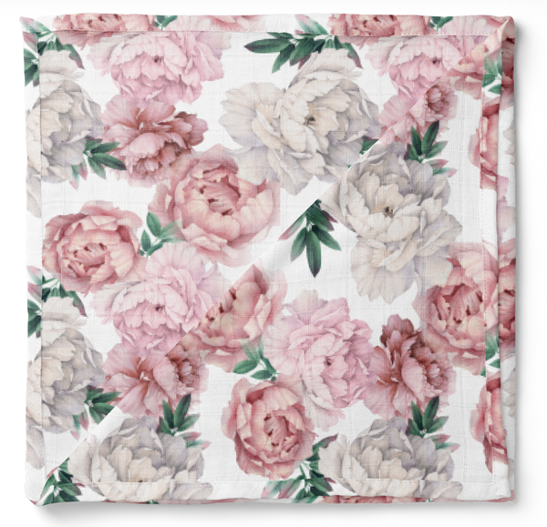 Les Bambins Couvertures Rose / O/S Couverture de bamboo BRIANNA bamboo swaddle