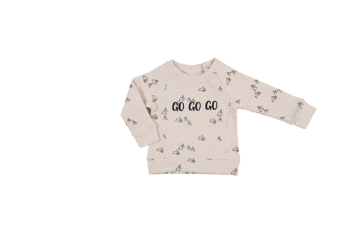 Les Petites Choses Chemises 18M / Beige Sweat crème avec imprimé montagnes Cream sweat with print mountains