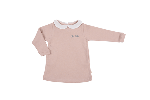 Les Petites Choses Robes 10Y / Rose Robe rose avec un col blanc White collar pink dress