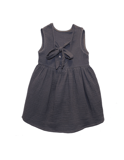 Les Petites Choses Robes 8Y / Gris Robe dos ouvert Open back dress