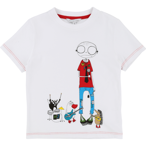 Little Marc Jacobs Chandails 14Y / Blanc Chandail blanc imprimé White printed T-shirt