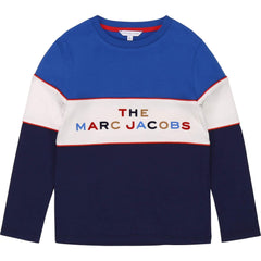 Little Marc Jacobs Chandails Chandail bleu Blue t-shirt