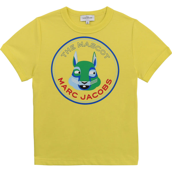 Little Marc Jacobs Chandails Chandail jaune TMJ Mascot yellow t-shirt