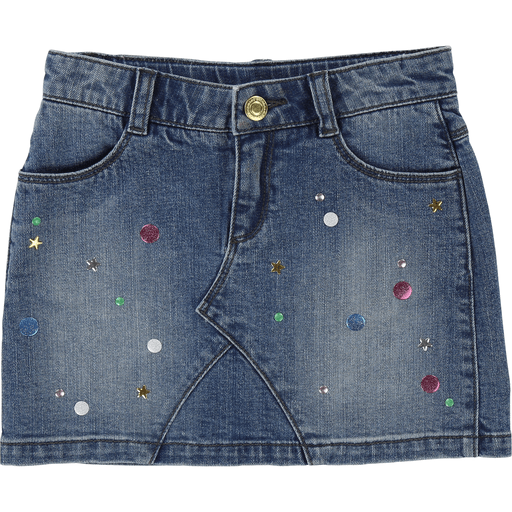 Little Marc Jacobs Jupes 14Y / Bleu Jupe en denim et détails colorés Denim skirt with colourful details