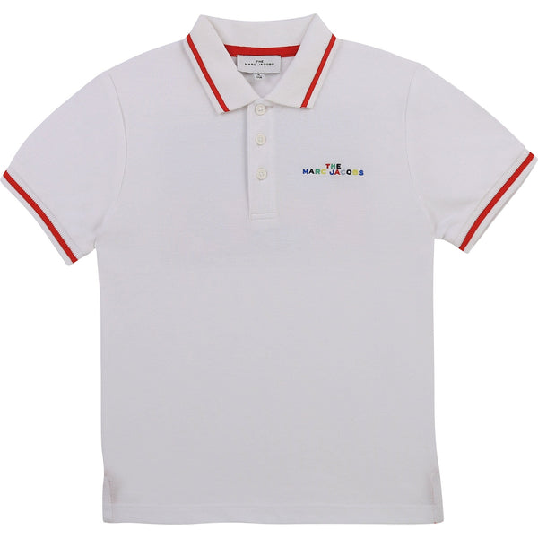 Little Marc Jacobs Polos Polo blanc ave chien White dog polo