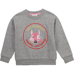 Little Marc Jacobs Pulls Pull gris TMJ mascot gray sweat pull