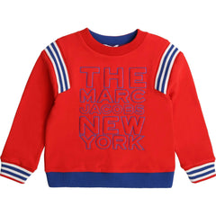 Little Marc Jacobs Pulls Pull rouge avec LMJ logo Red pull-over with LMJ logo