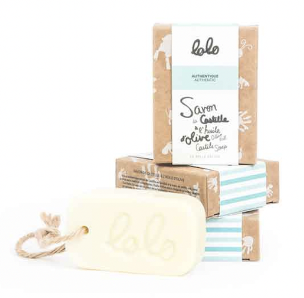 Lolo Soins O/S Barre de savon Castille authentique l'huile d'olive Olive oil castile soap authentic