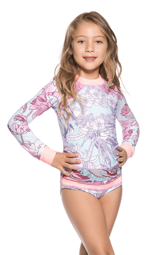Maaji Tenues de bain 14Y / Rose Haut de maillot rose et bleu Pink and blue swimsuit top