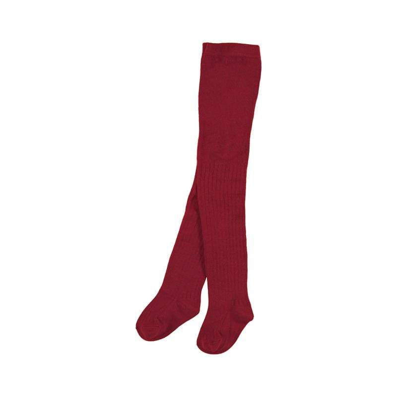 Mayoral Accessoires 2Y / Rouge Collants point de cote rouge Red knit tights