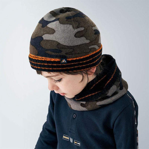 Mayoral Accessoires Ensemble bonnet foulard marine Navy  Hat and scarf kit