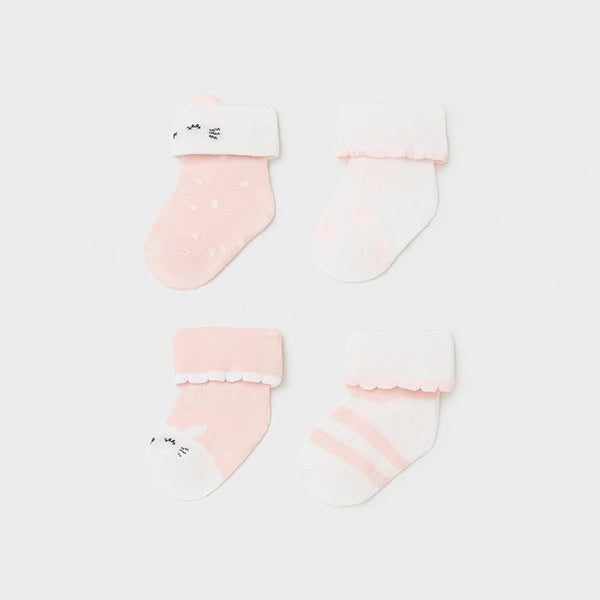 Mayoral Accessoires Ensemble de chaussettes rose pâle Set of light pink socks