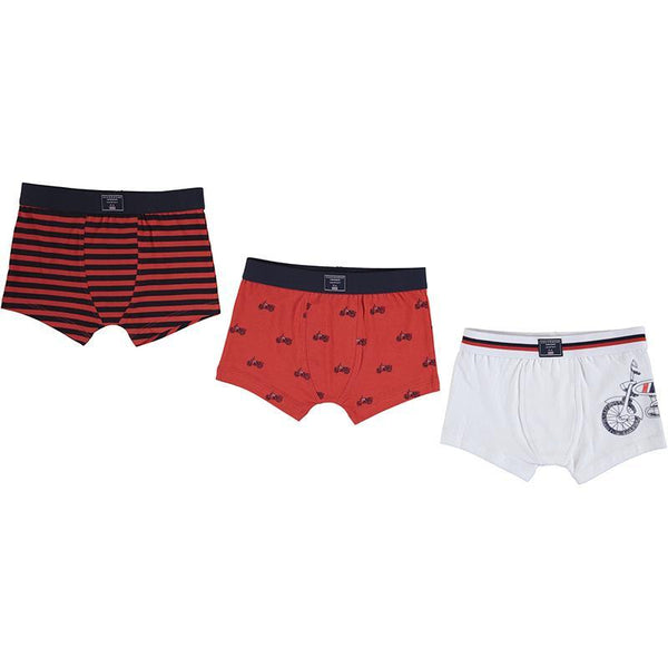 Mayoral Accessoires Ensemble de trois boxers rouges Set or three red boxers