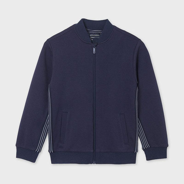 Mayoral Cardigans Cardigan en molleton bleu marin Navy blue fleece cardigan
