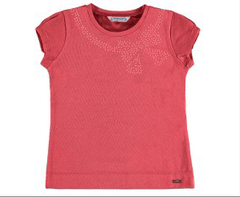 Mayoral Chandails 8Y / Rose T-shirt corail Coral T-shirt