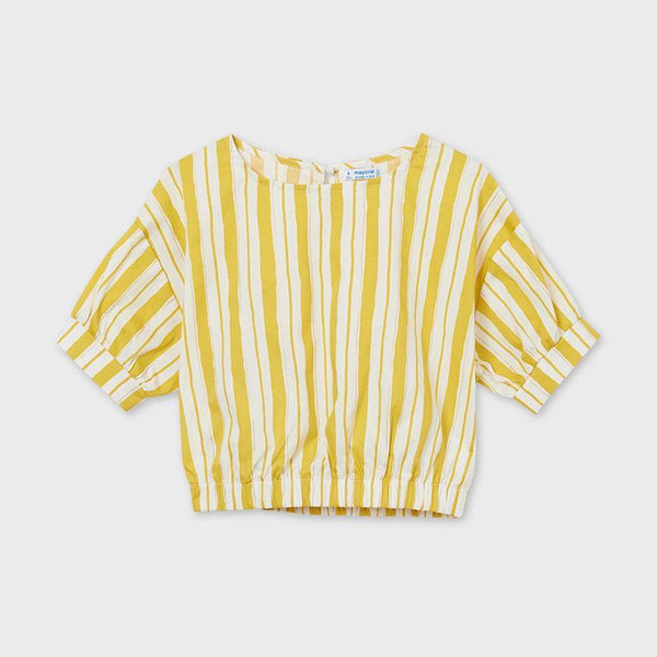 Mayoral Chandails Blouse jaune à rayures Yellow striped blouse