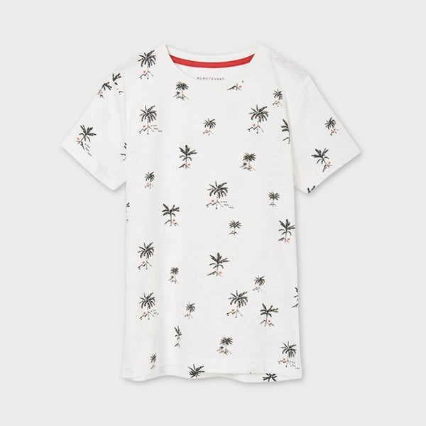 Mayoral Chandails Chandail blanc imprimé White printed t-shirt