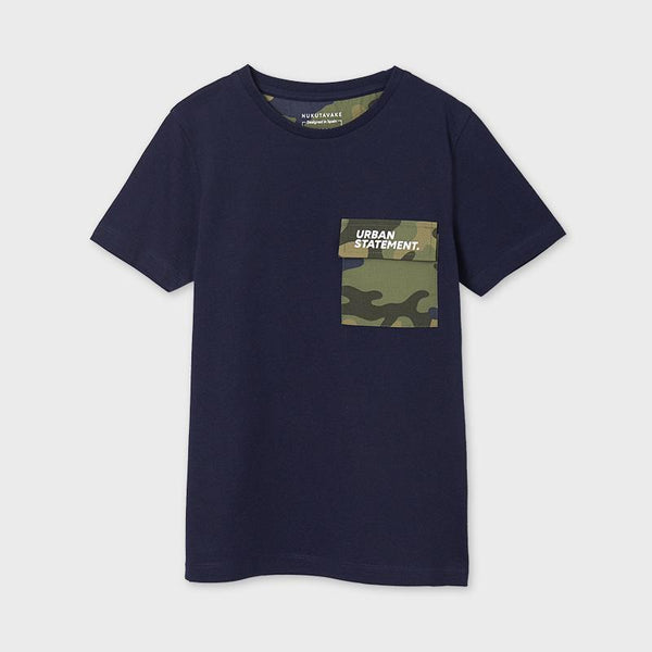 Mayoral Chandails Chandail bleu marin à poche Navy blue t-shirt with pocket