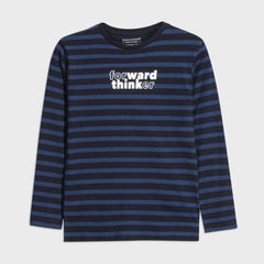 Mayoral Chandails Chandail bleu rayé Blue striped t-shirt